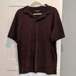 EUC Nordstrom Brown Polo Shirt Size L